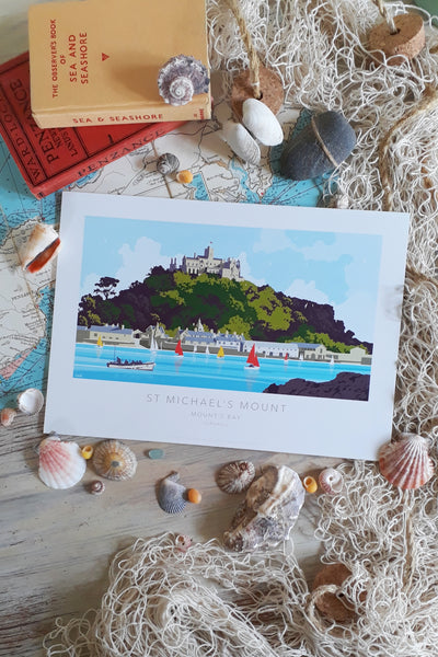 Kevin Williamson print 'St Michael's Mount Ferry' - Large