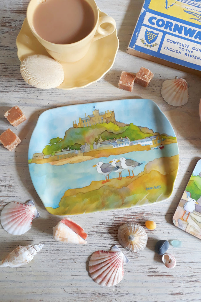 Emma Ball St Michael's Mount scatter Tray