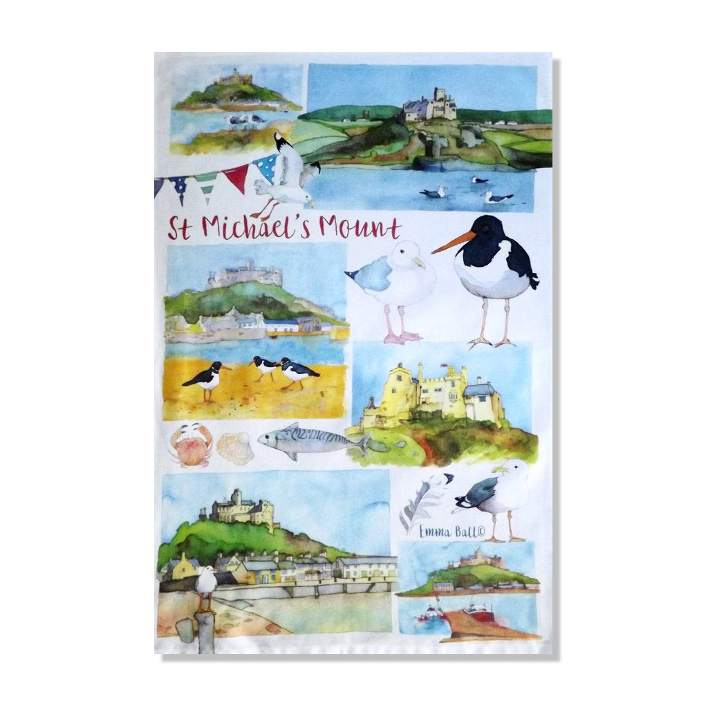 Emma Ball - St Michael's Mount Tea Towel