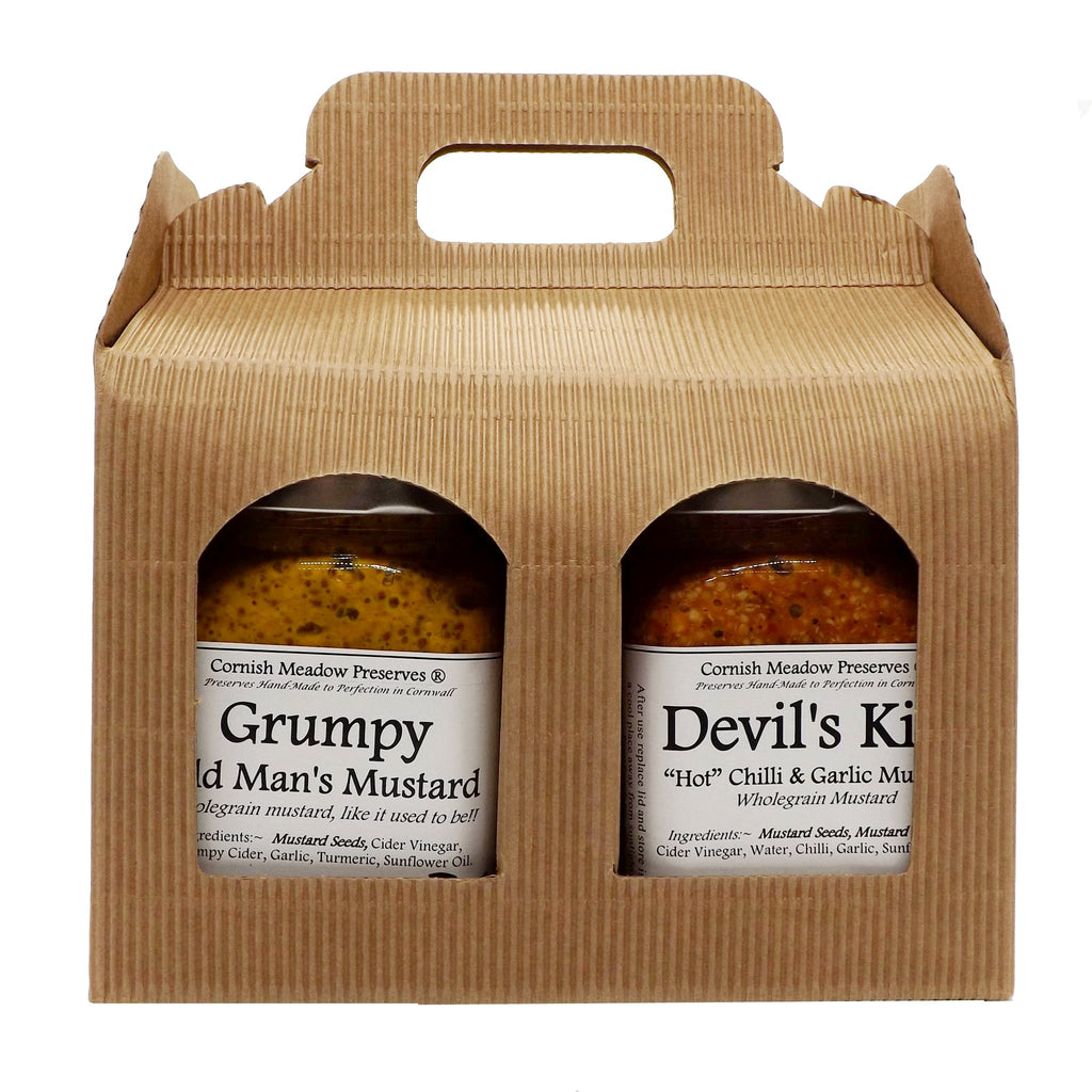 Cornish Mustard Gift Pack- Grumpy + Devil
