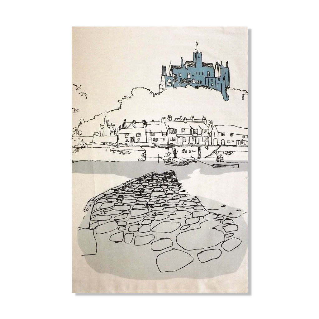 Village Tea Towel - Natural