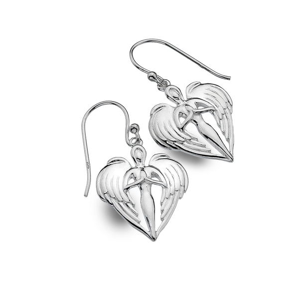 **Bespoke St Michael Angel Earrings