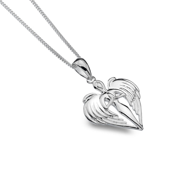 St Michael Angel Sterling Silver Pendant & Chain
