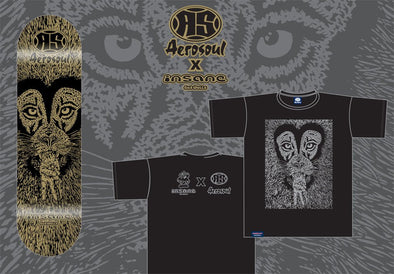 "Insane By Ged Wells X Aerosoul ""Peaceful Lion"" Collab Tee & Board"