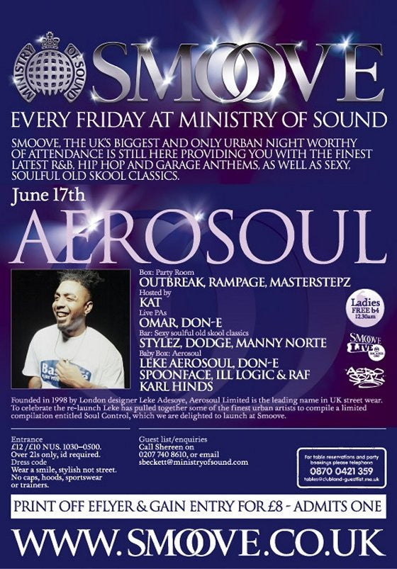 Aerosoul @ Ministry of Sound - Smoove