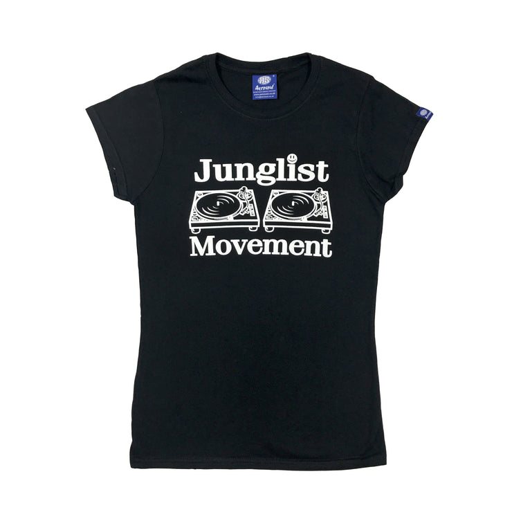 Junglist Movement Babe T-Shirt ( Black )