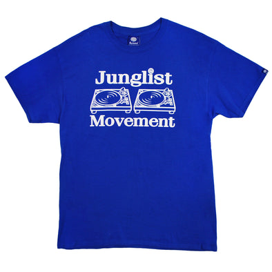 Junglist Movement T-shirt ( Royal Blue )