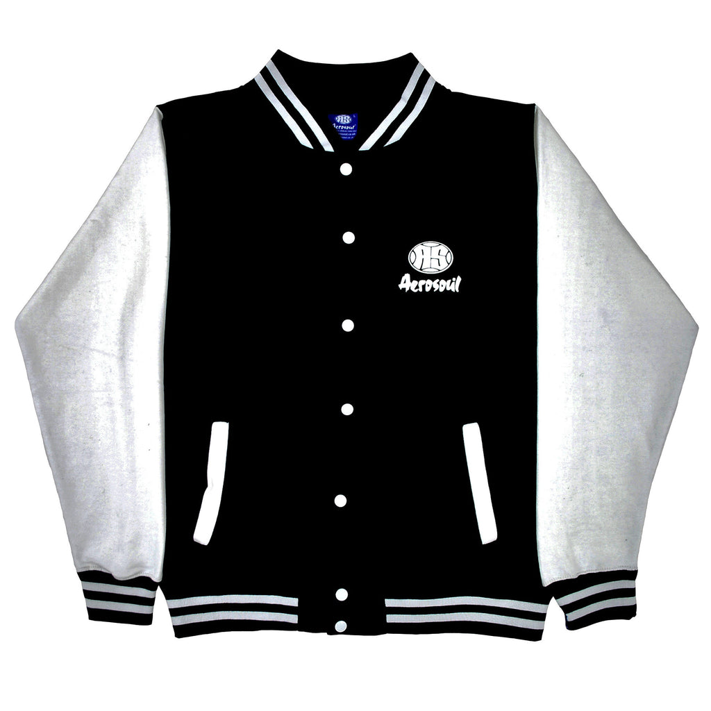 Aerosoul Junglist Movement 'Princeton' Uni-Sex Varcity Jacket (Black/White)