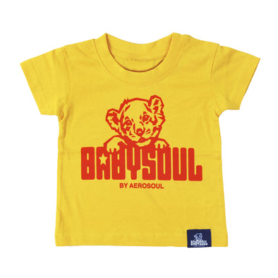 Baby Soul Cub Crew Neck TeeShirt ( SunFlower / Red )