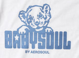 Baby Soul Cub BaseBall Long Sleeve Teeshirt (Pale Blue/White)