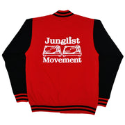 Aerosoul Junglist Movement 'Princeton' Uni-Sex Varcity Jacket (Fire Red/Black)