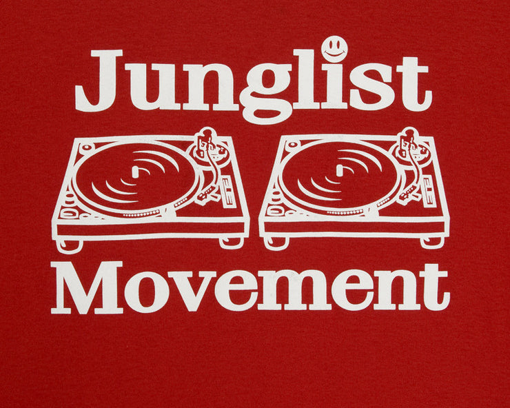 Junglist Movement T-shirt ( Red )