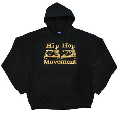 Hip Hop Movement Gold Hoodie (Black)