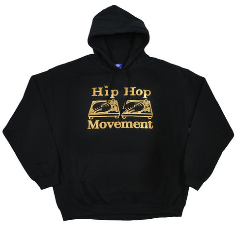Hip Hop Movement Gold Foil Hoodie (Black)