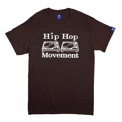 Hip Hop Movement Teeshirt (White/Russet)
