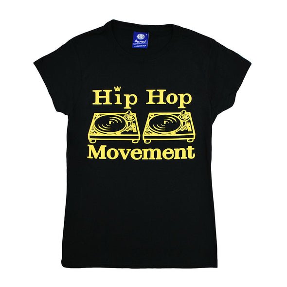 Hip Hop Movement Ladies Teeshirt ( Black )