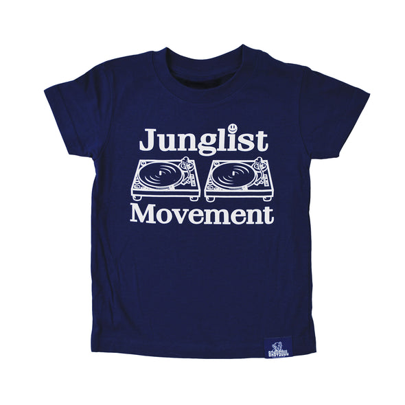 Baby Soul Junglist Movement Crew Neck TeeShirt ( White / Dark Royal )