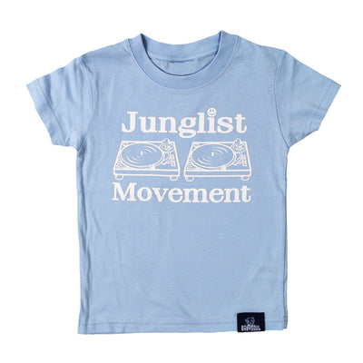 Baby Soul Junglist Movement Crew Neck TeeShirt ( White / Pale Blue)