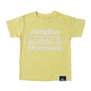 Baby Soul Junglist Movement Crew Neck TeeShirt ( White / Pale Yellow )