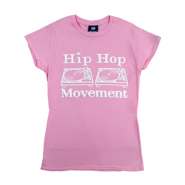 Hip Hop Movement Ladies Teeshirt (Pink)