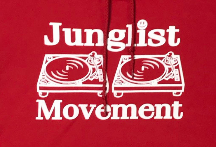 Junglist Movement Heavyweight Hoodie (Red)