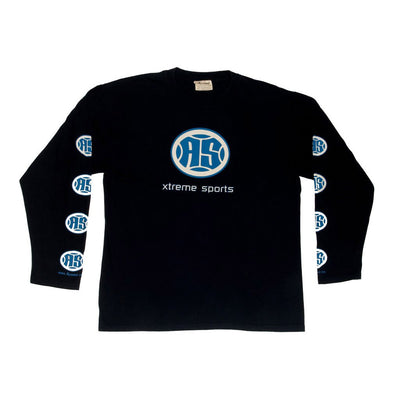 A.S. Xtreme Long Sleeve T-Shirt - Blue Logo (Black)
