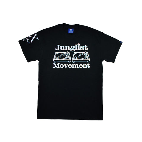Junglist Movement Exclusive 20 Year Anniversary Tee ( Glow In The Dark Print )
