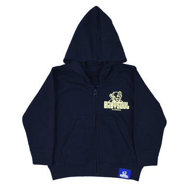 Baby Soul Junglist Movement Zip Hoodie ( Yellow / Navy )