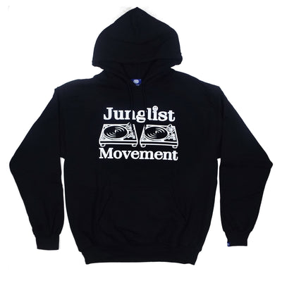 Junglist Movement Heavyweight Hoodie ( Black )