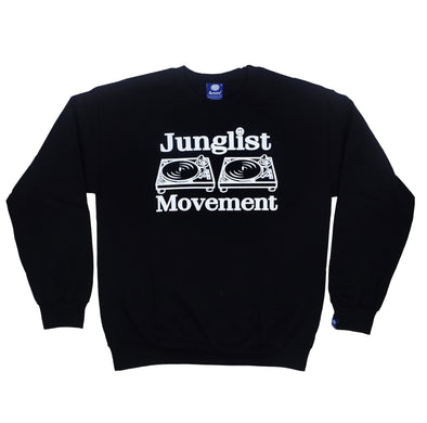 Junglist Movement -  Heavyweight Sweatshirt  ( Black )
