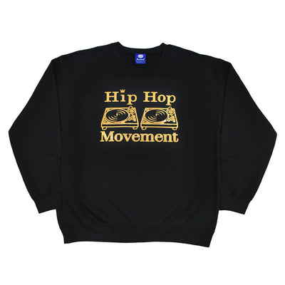Hip Hop Movement Gold Sweatshirt (Black)