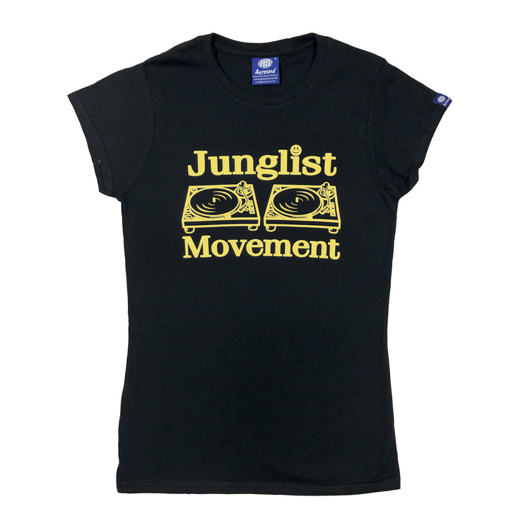 Junglist Movement Babe T-Shirt ( Yellow/Black )