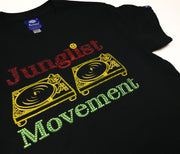 Custom Junglist Movement X Swarovski Teeshirt (Black)