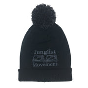A.S. Embriodered Junglist Movement Snowstar Beanie Hat (Black)