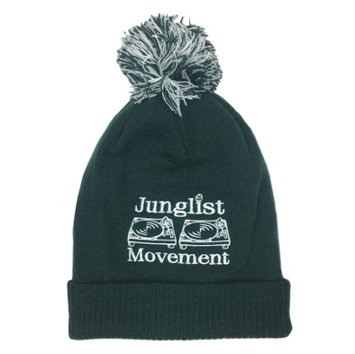 A.S. Embriodered Junglist Movement Snowstar Beanie Hat (Bottle Green)
