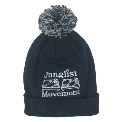 A.S. Embriodered Junglist Movement Snowstar Beanie Hat (French Navy)