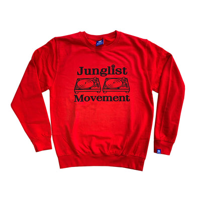 Junglist Movement - Red & Black Heavyweight Sweatshirt
