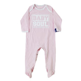 Baby Block Contrast Sleep Suit (White/Pale Pink)