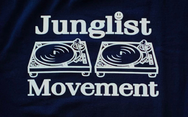 Junglist Movement -  Heavyweight Sweatshirt  Dark Navy With White Print