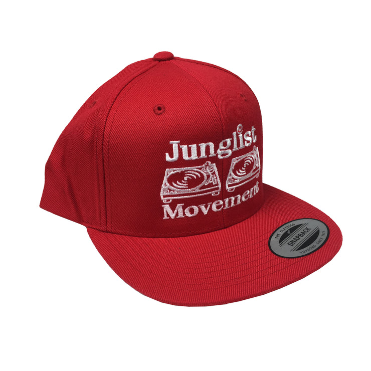 Aerosoul Junglist Movement Embroidered Snapback ( Red )