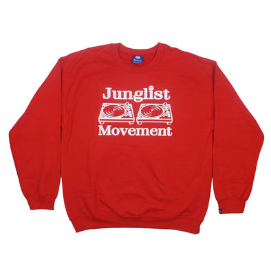 Junglist Movement - Heavyweight Sweatshirt ( Red )