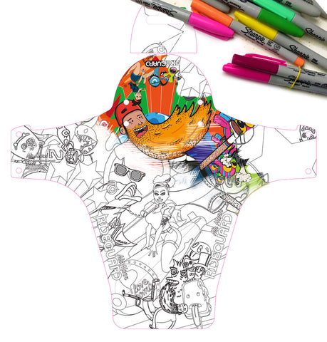Download the Mr Hann Coloring In Template