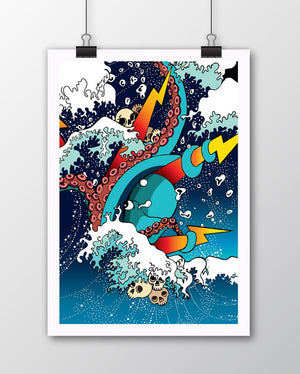 Signed Limited Edition 'Kraken' Print.