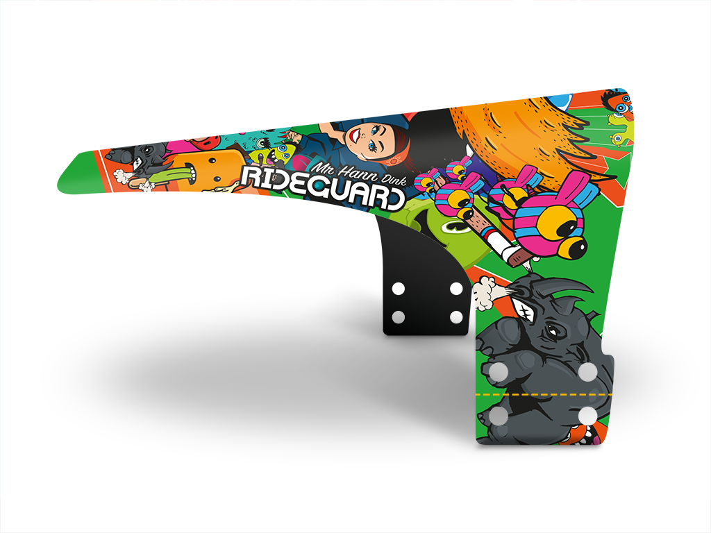 RideGuard Dink Donk Mr Hann Set Kids Mudguard Fender Clip On