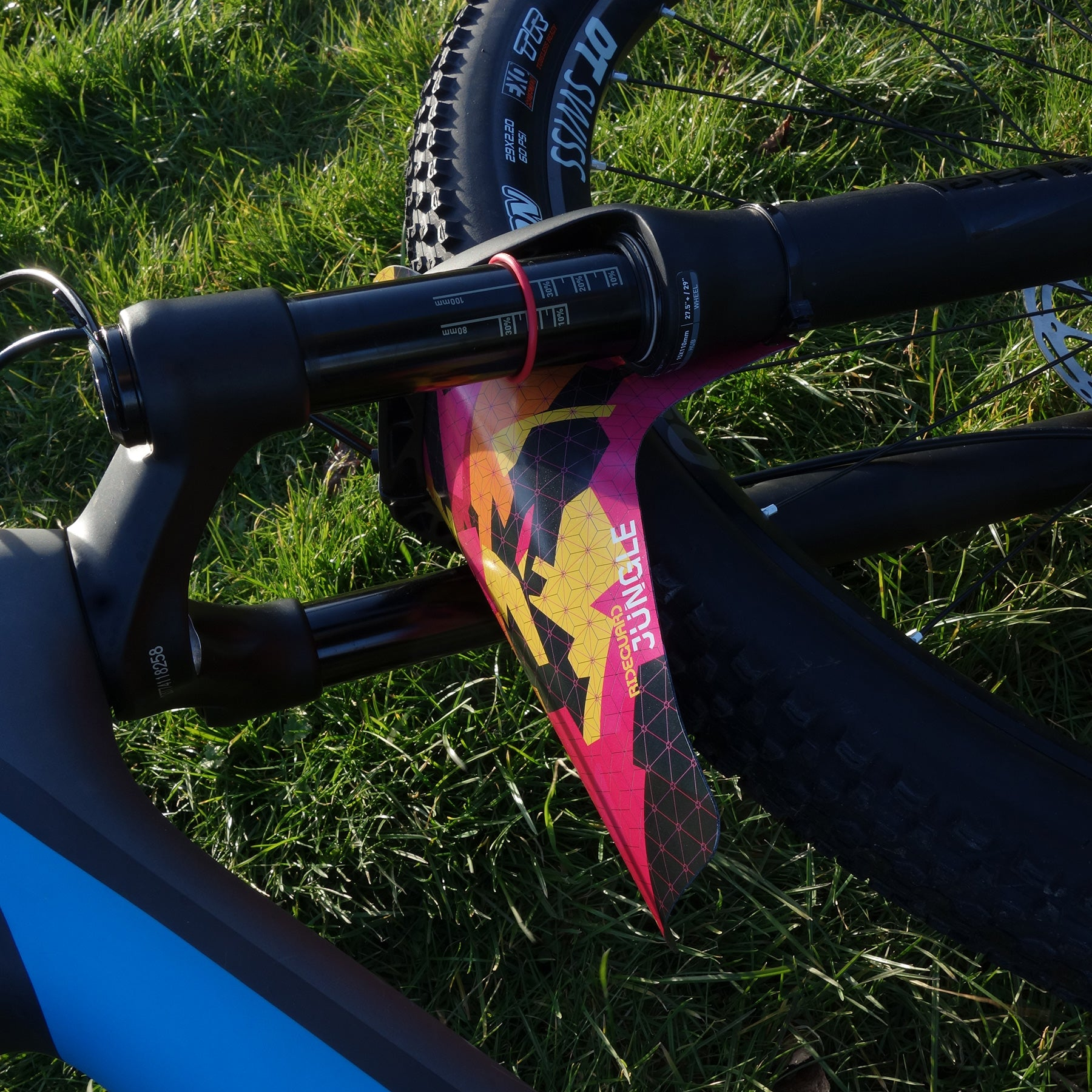 RideGuard PF1 Front MTB Mudguard Jungle Fire