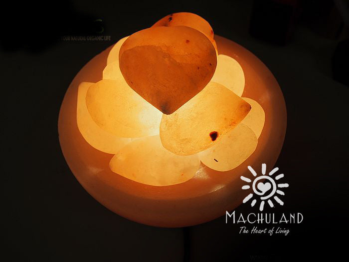 幸福聚寶盤岩鹽燈 Heart Fire Bowl Salt Lamp - Machuland hk