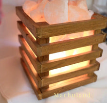 木籃鹽燈Wooden Cube Basket Salt Lamp - Machuland hk