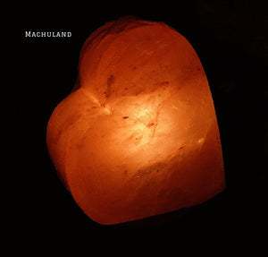 心心岩鹽燈 Heart Shape Salt Lamp (6磅) - Machuland hk