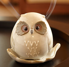 松榮堂。貓頭鷹陶瓷爐 Owl Incense Holder - Machuland hk