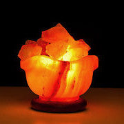 花花聚寶盤岩鹽燈 Flower Bowl Salt Lamp - Machuland hk